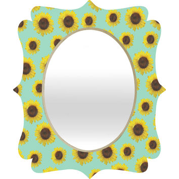 Allyson Johnson Sunflower Pattern Quatrefoil Mirror