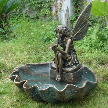 Sunnydaze Fairy Shell Outdoor Fountain