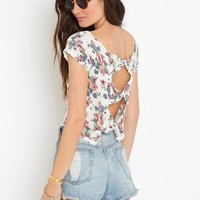 Zarah Tee - Floral in  Clothes at Nasty Gal