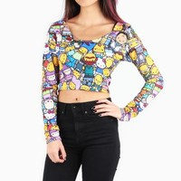 The Simpsons x Hello Kitty Long Sleeve Crop Tee