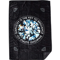 Diamond Supply Co Simplicity Blanket (black) Accessories Z00DGE02MLTI | PickYourShoes.com