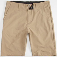 Volcom Frucking Drip-Dry Mens Hybrid Shorts - Boardshorts And Walkshorts In One Dark Khaki  In Sizes