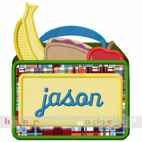 Back to School - School Lunchbox Monogram - Customized Tee Shirt - Customizable