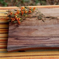 Cutting Board Serving Tray Organic Walnut Farm to Table Wedding Gift