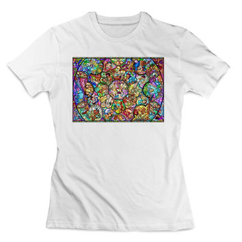 all CHARACTER DISNEY STAINED glass Clothing T Shirt Women