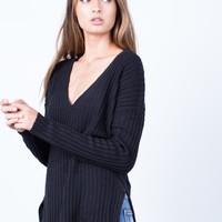 Cozy V-Neck Sweater Top