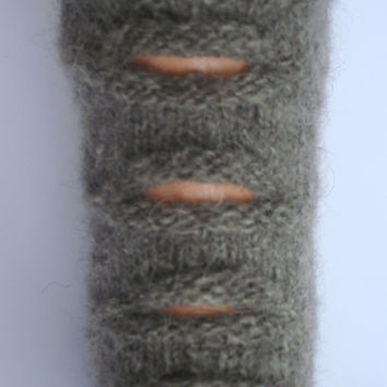 Hand knitted warm wool socks. Socks made of natural gray wool yarn with layer of gray kid mohair.Christmas gift ideas.Autumn gift ideas.