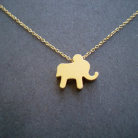 Baby Gold Elephant Goldfilled Chain