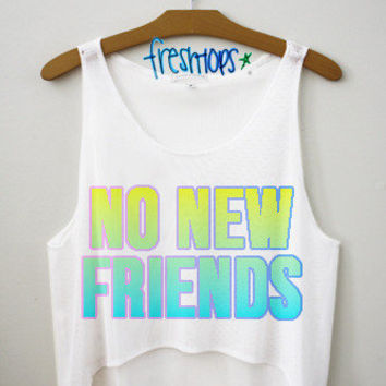 No New Friends Crop | fresh-tops.com