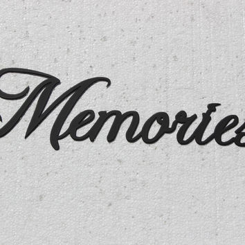 Memories Word Sign Fancy Script Home Decor Metal Wall Art