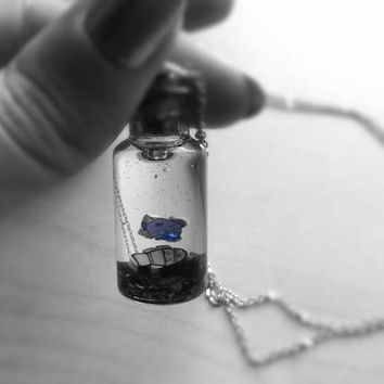 Fish in a Bottle Pendant Necklace