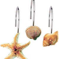 Scuba Jewels Resin Shower Curtain Hooks