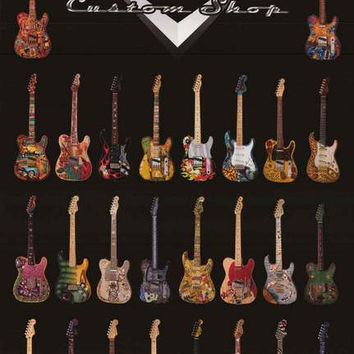 Fender Guitars Dream Factory Custom Shop Music Poster 24x36