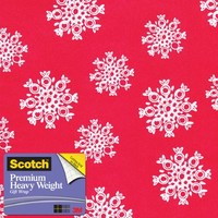 Scotch Gift Wrap, Night Watch Snowflakes Pattern, 25-Square Feet, 30-Inch x 10-Feet (AM-WPNWS-12)