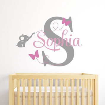 Customized Name Wall Decal for Girls Kids Baby Room Mural Removable Vinyl Wall S