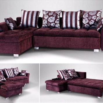 Free Shipping French Modern design 2015 new Living Room L shaped Fabric Corner sofa  fabric sofa bed  F105