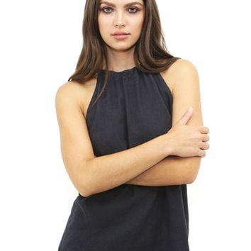 Bella Dahl Seam Halter Top in Black Shadow | Boutique To You