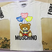 "Moschino White ""Ball Bear"" Fashion Women T Shirt"