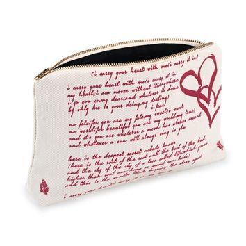 I Carry Your Heart Book Pouch