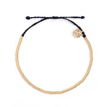 handmade wax string jewelry Pulseira Natural gold seed bead bracelet adjustable rope friendship Stack beaded bracelet for women