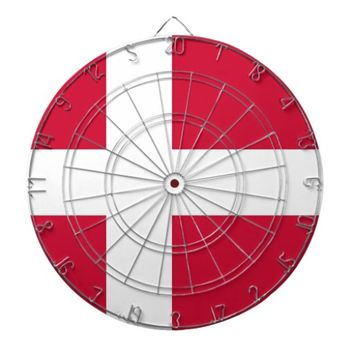 Dartboard with Flag of Denmark
