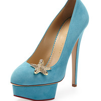 Seaside Dolly Sue Starfish Pump, Teal