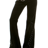 Vintage 90's Does 70's Lace-Up Bell Bottoms - M/L