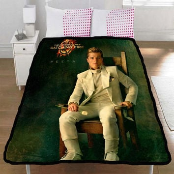 Hunger Games Catching Fire Peeta Mellark Josh Hutcherson Collection Gift Throw Fleece Blanket L, XL - 002