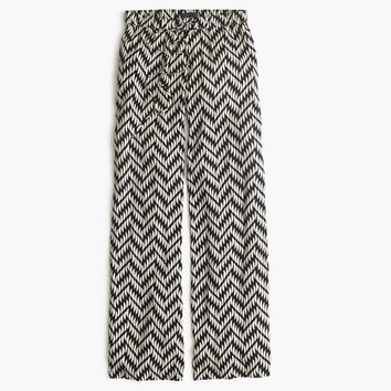 J.Crew Womens Drapey Beach Pant In Chevron