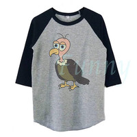 Vulture shirt Bird t shirt Kids boy girl tops **raglan shirt toddler **Youth baseball t shirt **Funny tshirt