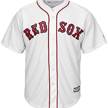 Youth Boston Red Sox Cool Base White Tackle Twill Baseball Jersey