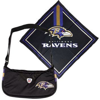 Baltimore Ravens NFL Fandana and Jersey Purse Set