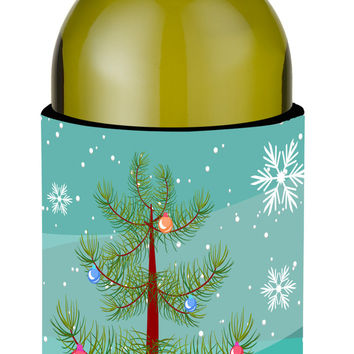 Sokoke Cat Merry Christmas Tree Wine Bottle Beverge Insulator Hugger BB4431LITERK