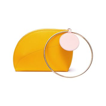 Roksanda | 'Eartha' metal ring handle small leather clutch | Women | Lane Crawford - Shop Designer Brands Online