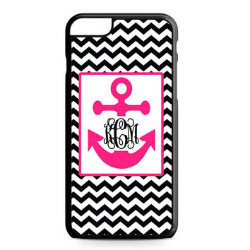 Monogram Anchor Wallpaper iPhone 6 Plus Case