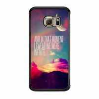 Perks Of A Wall Flower Quote Design Vintage Retro Samsung Galaxy S6 Edge Case