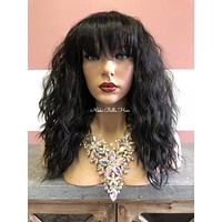 Black Wavy Full Wig - Atlantis 0518