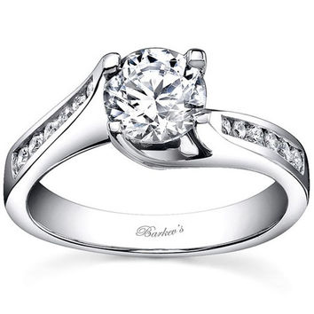 Barkev's Twist Channel Set Diamond Engagement Ring