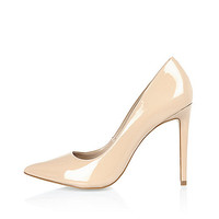 Nude pink patent leather pumps - pumps - shoes / boots - women