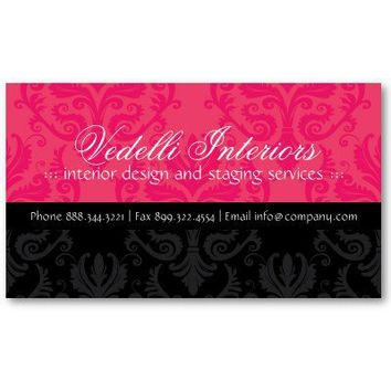 Classy Damask Designer Business Card from Zazzle.com