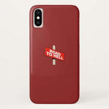 Road to hell sign Case-Mate iPhone case