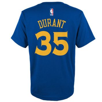 Youth Golden State Warriors Kevin Durant adidas Royal Name & Number T-Shirt
