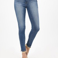 High Rise Stretchy Medium Skinny Denim