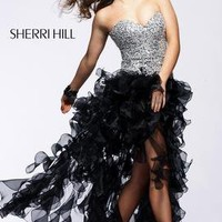 2463  Effervescent floor-length party dress with ethereally ruffled skirt by Sherri Hill Bravura Pageant, Prom, Bridal and Formalwear Boutique - Prom 2009 Superstore