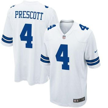 Men's Dallas Cowboys Dak Prescott Nike Navy Game Jerseys