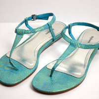 Style & Co Persia Snake Sandals Flat Size 8