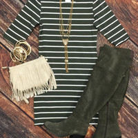 On the Docks Dress: Olive