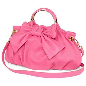 Lulu by Lulu Guinness™ Ringleader Large Bow Satchel