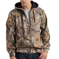 Carhartt Men's Midweight Camo Hooded Zip Front Sweatshirt - K289