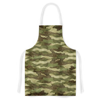 "Bruce Stanfield ""Dirty Camo"" Green Beige Artistic Apron"